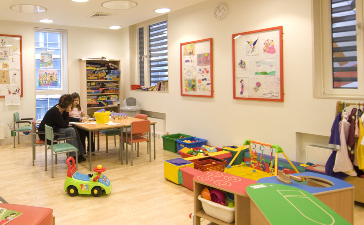 a playroom at GOSH